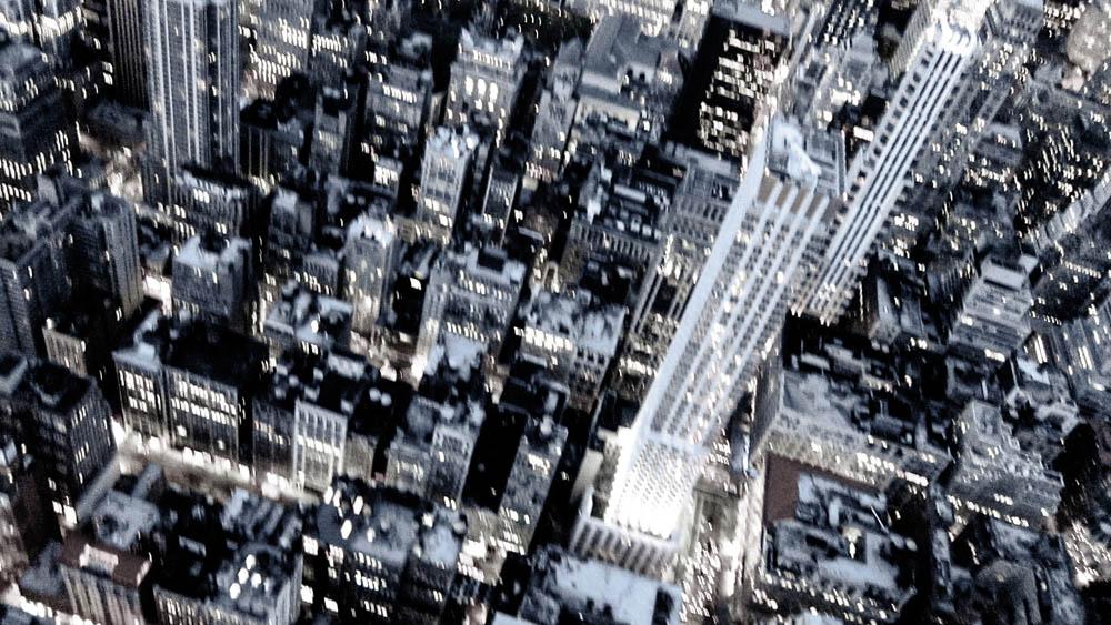 New York City aus der Vogelperspektive für ON Parfum