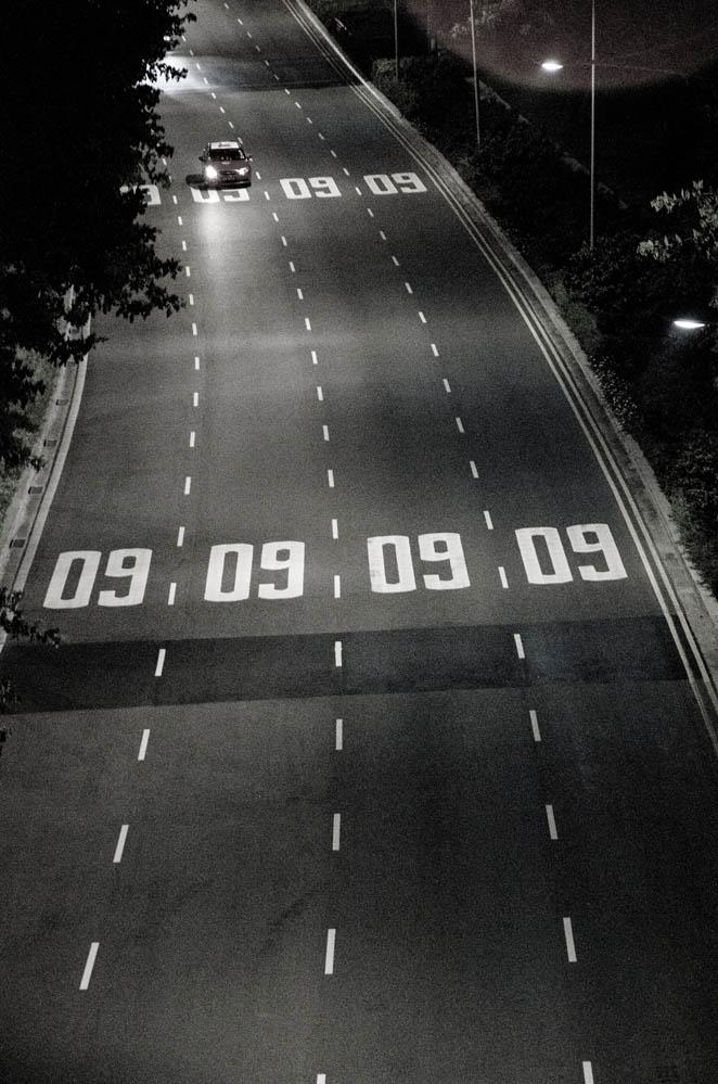 Stadt-Autobahn in Singapur für Parfum ON